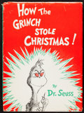 """Books:Children's Books, Dr. Seuss. How the Grinch Stole Christmas! Random House,[1957]. First edition in first issue dust jacket with """"250/..."""