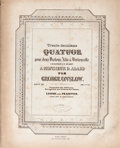 Books:Music & Sheet Music, [Music]. George Onslow. Three Quartets, Each Complete in Four Parts. Leipzig, [n.d., ca. 1840s - 1850s]. Together, twelve fo...