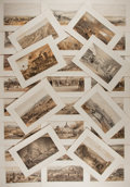 """Books:Prints & Leaves, William Simpson, artist. Lot of 39 Tinted Illustrations of theCampaign in Crimea, Circa 1856. 6.75"""" x 9.75"""". Disbound from ..."""