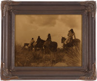 EDWARD S. CURTIS (American, 1868-1952) Before the Storm, circa 1906 Orotone 11 x 14 inches (27.9