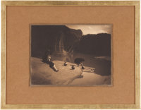 EDWARD S. CURTIS (American, 1868-1952) The Old Well at Acoma, 1904 Vintage platinum 5-3/8 x 7-3/4