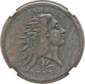 Large Cents, 1793 1C Wreath Cent, Lettered Edge -- Environmental Damage -- NGCDetails. VF. S-11c, B-16c, Low R.3....