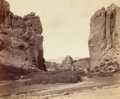 Photographs:Historical Photographs, WILLIAM HENRY JACKSON (American, 1843-1942). Gateway to the Garden of the Gods, Pikes Peak, 1873. Vintage mammoth albume...