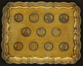 Austria, Austria: Fancy silver tray embedded with Thalers:... (Total: 11 coins)