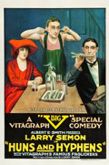 """Movie Posters:Comedy, Huns and Hyphens (Vitagraph, 1918). One Sheet (27"""" X 41"""").. ..."""