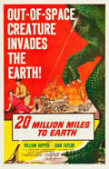 "Movie Posters:Science Fiction, 20 Million Miles to Earth (Columbia, 1957). Autographed One Sheet(27"" X 41"").. ..."