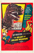 """Movie Posters:Science Fiction, The Beast of Hollow Mountain (United Artists, 1956). One Sheet (27""""X 41"""").. ..."""
