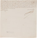 Autographs:Non-American, Frederick the Great, King of Prussia, Document Signed,...