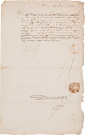 Autographs:Non-American, Henry III of France Letter Signed....