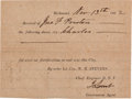 Miscellaneous:Ephemera, [Slavery]. Confederate States Receipt for Use of a Slave....