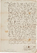 Autographs:Non-American, Anne de Montmorency, High Constable of France, Document Signed...