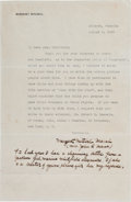 Autographs:Authors, Margaret Mitchell Typed Letter Twice Signed. ...