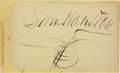 Autographs:Statesmen, Sam Houston Signature. ...