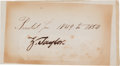 Autographs:U.S. Presidents, Zachary Taylor Clipped Signature. ...