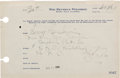 Autographs:Celebrities, George and Ira Gershwin Signed Hotel Reservation Slip. ... (Total:2 )
