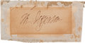 Autographs:U.S. Presidents, Thomas Jefferson Signature. ...