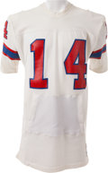 Football Collectibles:Uniforms, Circa 1975 Steve Grogan Game Worn New England Patriots Jersey - With Built In Hand Warmers. ...