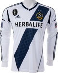Miscellaneous Collectibles:General, 2010 David Beckham Game Worn Los Angeles Galaxy Jersey....