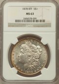 Morgan Dollars: , 1878 8TF $1 MS63 NGC. NGC Census: (2763/2341). PCGS Population(3846/2954). Mintage: 699,300. Numismedia Wsl. Price for pro...