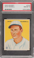 Baseball Cards:Singles (1930-1939), 1933 Goudey Jack Russell #123 PSA NM-MT 8....
