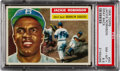 Baseball Cards:Singles (1950-1959), 1956 Topps Jackie Robinson, Gray Back #30 PSA NM-MT+ 8.5 - Pop Four, Two Higher! ...