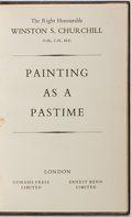 Books:Biography & Memoir, Winston Churchill. Painting as a Pastime. London: OdhamsPress and Ernest Benn., 1948. Publisher's leather binding w...