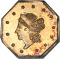 California Fractional Gold, 1860 $1 Liberty Octagonal 1 Dollar, BG-1102, R.4, MS64 PCGS....