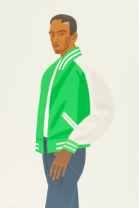 ALEX KATZ (American, b. 1927) Green Jacket (from Alex and Ada, the 1960s to the 1980s series), 1990