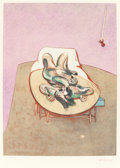 Prints:Contemporary, FRANCIS BACON (British, 1909-1992). Untitled (Figure on abed), 1966. Lithograph in colors. 19-3/4 x 14-1/2 inches(50.0...