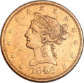 Liberty Eagles, 1846 $10 AU50 NGC....