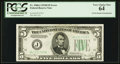 Error Notes:Double Denominations, Fr. 1960-J $5/$10 1934D Federal Reserve Note. PCGS Very Choice New 64.. ...