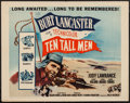 "Movie Posters:Adventure, Ten Tall Men (Columbia, R-1956). Half Sheet (22"" X 28"").Adventure.. ..."