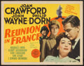 """Movie Posters:War, Reunion in France (MGM, 1942). Title Lobby Card (11"""" X 14""""). War....."""