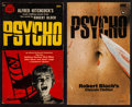 Movie Posters:Hitchcock, Psycho by Robert Bloch (Crest, Fourth Printing, March 1961, and Gorgi Edition (UK) 1969). Autographed Paperbacks (2) (Multip... (Total: 2 Items)