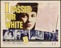 "Movie Posters:Exploitation, I Passed for White (Allied Artists, 1960). Half Sheet (22"" X 28"")Style A. Exploitation.. ..."