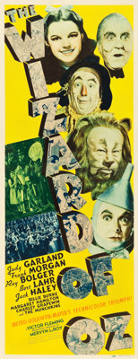 "The Wizard of Oz (MGM, 1939). Insert (14"" X 36"")"