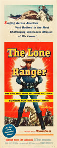 """Movie Posters:Western, The Lone Ranger (Warner Brothers, 1956). Insert (14"""" X 36"""").. ..."""