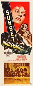"Movie Posters:Film Noir, Sunset Boulevard (Paramount, 1950). Insert (14"" X 36"").. ..."