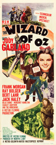 "Movie Posters:Fantasy, The Wizard of Oz (MGM, R-1949). Insert (14"" X 36"").. ..."
