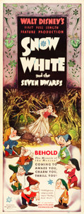 "Movie Posters:Animation, Snow White and the Seven Dwarfs (RKO, 1937). Insert (14"" X 36"")....."