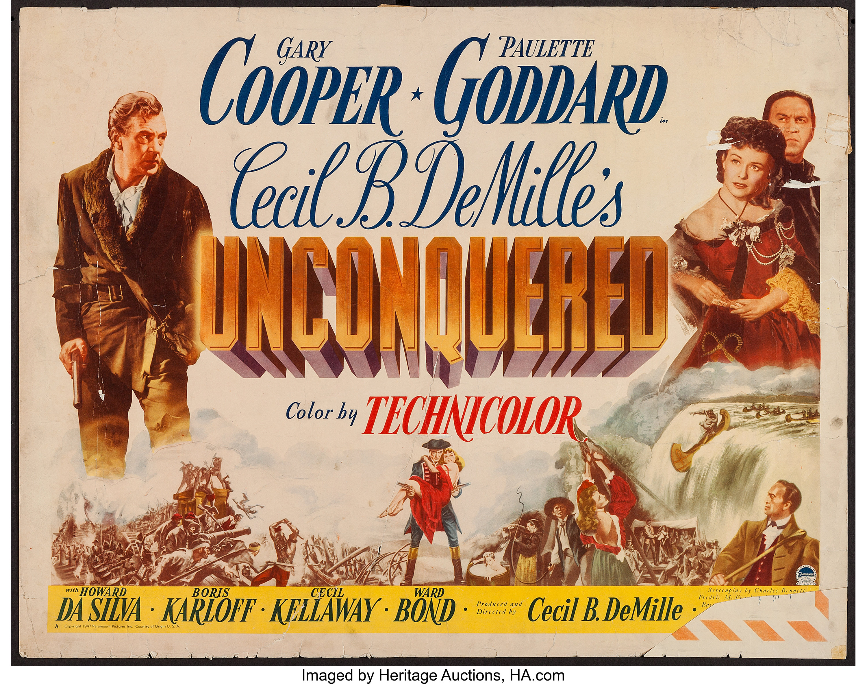 Unconquered and Others Lot (Paramount, 1947). Half Sheets (5) (22 ...