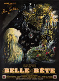 "Movie Posters:Fantasy, La Belle et la Bete (DisCina, 1946). French Grande (47"" X 63"").. ..."