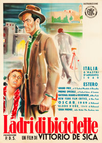 "The Bicycle Thief (ENIC, R-1952). Italian 2 - Foglio (39"" X 55"")"