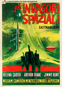 "Invaders from Mars (Rank, 1953). Italian 4 - Foglio (55"" X 78"")"