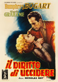 "Movie Posters:Film Noir, In a Lonely Place (Columbia, 1951). Italian 2 - Foglio (39"" X55"").. ..."