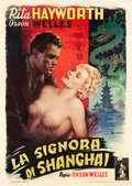 "Movie Posters:Film Noir, The Lady from Shanghai (Columbia, 1948). Italian 2 - Foglio (39"" X 55"").. ..."