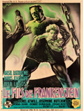 "Movie Posters:Horror, Son of Frankenstein (Universal, 1939). French Grande (47"" X 63"") Style B.. ..."