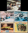"""Movie Posters:War, Between Heaven and Hell & Others Lot (20th Century Fox, 1956).Title Lobby Card & Lobby Cards (12) (11"""" X 14""""). War.. ...(Total: 13 Items)"""