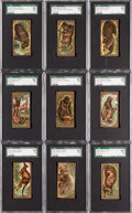 "Non-Sport Cards:Sets, 1890 N216 Kinney Bros. ""Animals"" Complete Set (25) - #1 on the SGCSet Registry. ..."