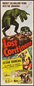 "Movie Posters:Science Fiction, Lost Continent and Others Lot (Lippert, 1951). Insert (14"" X 36""),Title Card (11"" X 14""), and Uncut Pressbooks (2) (Multipl...(Total: 4 Items)"